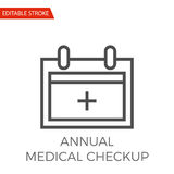 Annual Medical Checkup Vector Icon. Annual Medical Checkup Thin Line Vector Icon. Flat Icon  on the White Background. Editable Stroke EPS file. Vector Stock Images