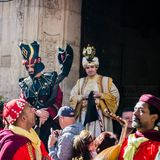 Annual medieval market in Orihuela. Spain stock photography