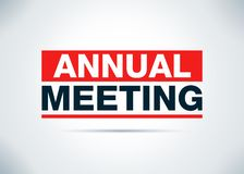 Annual Meeting Abstract Flat Background Design Illustration royalty free illustration