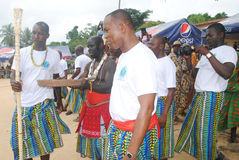 ANNUAL MEETING OF CEREMONIES PEOPLES Akan IN IVORY COAST Stock Images