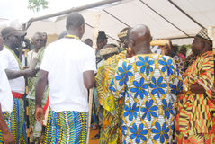 ANNUAL MEETING OF CEREMONIES PEOPLES Akan IN IVORY COAST Stock Photography