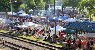 Annual Memphis Chicken Wing Festival 2014. Pictured here is the Annual Memphis Chicken Wing Festival for 2014, the festival was held on the riverfront in Stock Photography