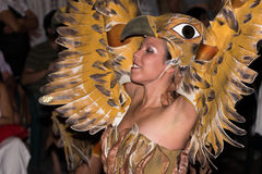 Annual Moors and Christians festival, bird girl Royalty Free Stock Photography