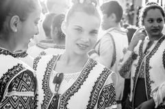 Romanian Folk Dancer On National Sovereignty and Children`s Day - Turkey royalty free stock photos