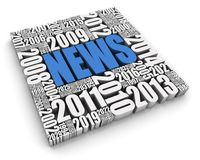Annual News Events. NEWS 3D text surrounded by calendar dates. Part of a series Royalty Free Stock Photos