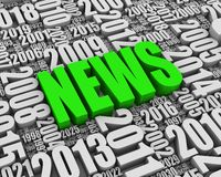 Annual News Events. NEWS 3D text surrounded by calendar dates. Part of a series Stock Images