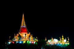 Annual night temple festival Royalty Free Stock Photography