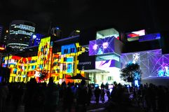 An annual outdoor lighting festival with immersive light installations and projections `Vivid Sydney`. SYDNEY, AUSTRALIA. – On May 27, 2012. - An annual stock photography