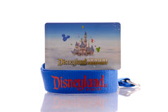 Annual Pass for Disneyland. Themeparks Stock Images