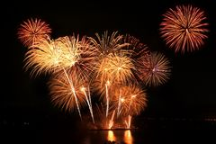 The Annual Pattaya International Fireworks Competition Stock Photos