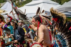 Powwow Traditional Dancers. royalty free stock image