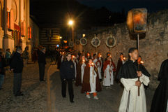 The annual procession to Jesus Christ at Easter in Mendrisio Royalty Free Stock Images