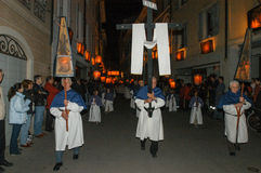 The annual procession to Jesus Christ at Easter in Mendrisio Stock Image