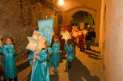 The annual procession to Jesus Christ at Easter in Mendrisio Stock Photo