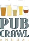 Annual Pub Crawl Royalty Free Stock Photos