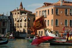 The Annual Regatta down the Grand Canal in Venice Italy Stock Image