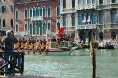 The Annual Regatta down the Grand Canal in Venice Italy Stock Photo