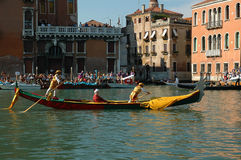 The Annual Regatta down the Grand Canal in Venice Italy Stock Photography