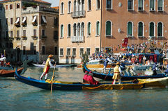 The Annual Regatta down the Grand Canal in Venice Italy Royalty Free Stock Image