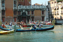 The Annual Regatta down the Grand Canal in Venice Italy Royalty Free Stock Photo