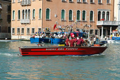 The Annual Regatta down the Grand Canal in Venice Italy Stock Image
