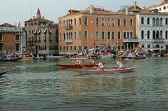 The Annual Regatta down the Grand Canal in Venice Italy Stock Photos