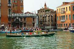 The Annual Regatta down the Grand Canal in Venice Italy Royalty Free Stock Images