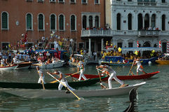 The Annual Regatta down the Grand Canal in Venice Italy Royalty Free Stock Photos