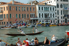 The Annual Regatta down the Grand Canal in Venice Italy Royalty Free Stock Photography