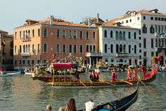 The Annual Regatta down the Grand Canal in Venice Italy Stock Photos