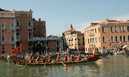 The Annual Regatta down the Grand Canal in Venice Italy Stock Photo