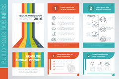 Annual report book cover and presentation template Royalty Free Stock Photo