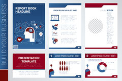 Annual report book cover and presentation template Royalty Free Stock Photos
