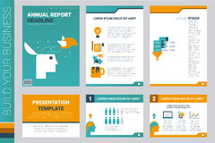 Annual report book cover and presentation template Royalty Free Stock Image