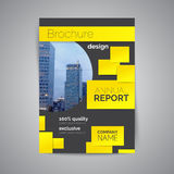 Annual report book cover template Abstract business brochure. royalty free illustration