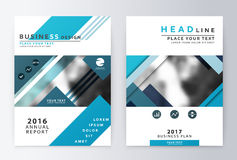 Annual report and brochure. Brochure template reports Stock Images
