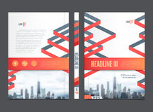 Annual Report Brochure Flyer Design Royalty Free Stock Photo