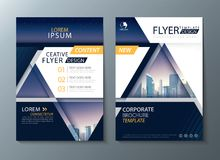 Annual report brochure flyer design, Leaflet cover presentation abstract background, book cover templates, layout in A4 size. Vector stock illustration