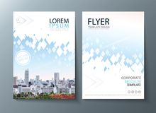 Bright future image annual report brochure, flyer design, Leaflet cover presentation abstract flat background, book cover template. Annual report brochure, flyer royalty free illustration