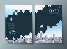 Annual report brochure, flyer design, Leaflet cover presentation abstract flat background, book cover templates, Jigsaw puzzle ima. Ge. Layout in A4 size Stock Photos