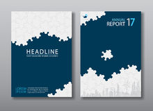 Annual report brochure flyer design template. Stock Photo