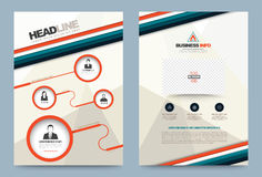 Annual report brochure flyer design template. Vector circle and strips style, Leaflet cover presentation abstract technology background, layout in A4 size Royalty Free Stock Images