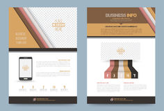 Annual report brochure flyer design template. Vector circle and strips style, Leaflet cover presentation abstract technology background, layout in A4 size Stock Photo