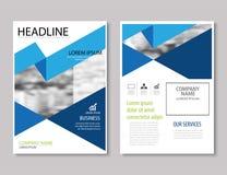 Annual report brochure flyer design template vector, Leaflet stock illustration