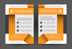 Annual report brochure flyer layout template. A4 size. Front and back page. Can be used for handbill, booklet, catalog, presentation, book cover, poster vector illustration