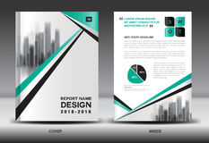 Annual report brochure flyer template, business brochure flyer Stock Photo