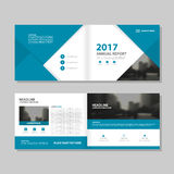 Annual report brochure template. Illustrated annual report brochure template with copy space in flat design style vector illustration