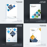 Annual report, business abstract vector template. Brochure desig. N, cover modern layout, poster, flyer in A4 with colourful rectangular shapes, grid for tech royalty free illustration