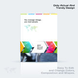 Annual report, business abstract vector template. Brochure desig. N, cover modern layout, poster, flyer in A4 with colourful rectangles, arrows, shadows for tech Royalty Free Stock Photos