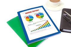 Annual report. Business annual report for board directors stock image